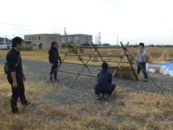 稲藁祭前日