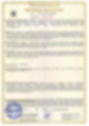Сертификат ТС навесное для поливки дорог