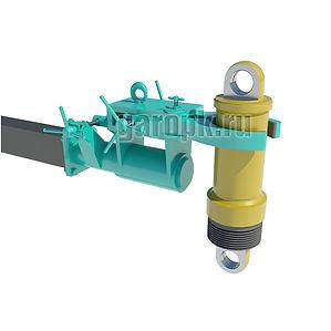 86-16 Приспособлениедля снятия и установки цилиндров подвески и ЦОМ