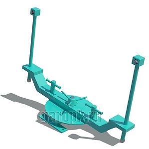31-96Приспособление для поддержания ключа при отворачивании и заворачивании гаек крепления зад. колес БелАЗ-7513