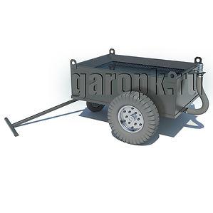 ОМ-57 Емкость передвижная для слива масел с автомобилей БелАЗ объемом 200 литров