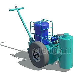 Гидравлический подкатной домкрат (подъемик) для вывешивания колес автомобилей БелАЗ