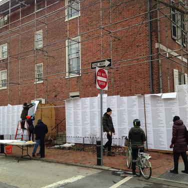 Jenny Holzer Install for the Barnes Foundation