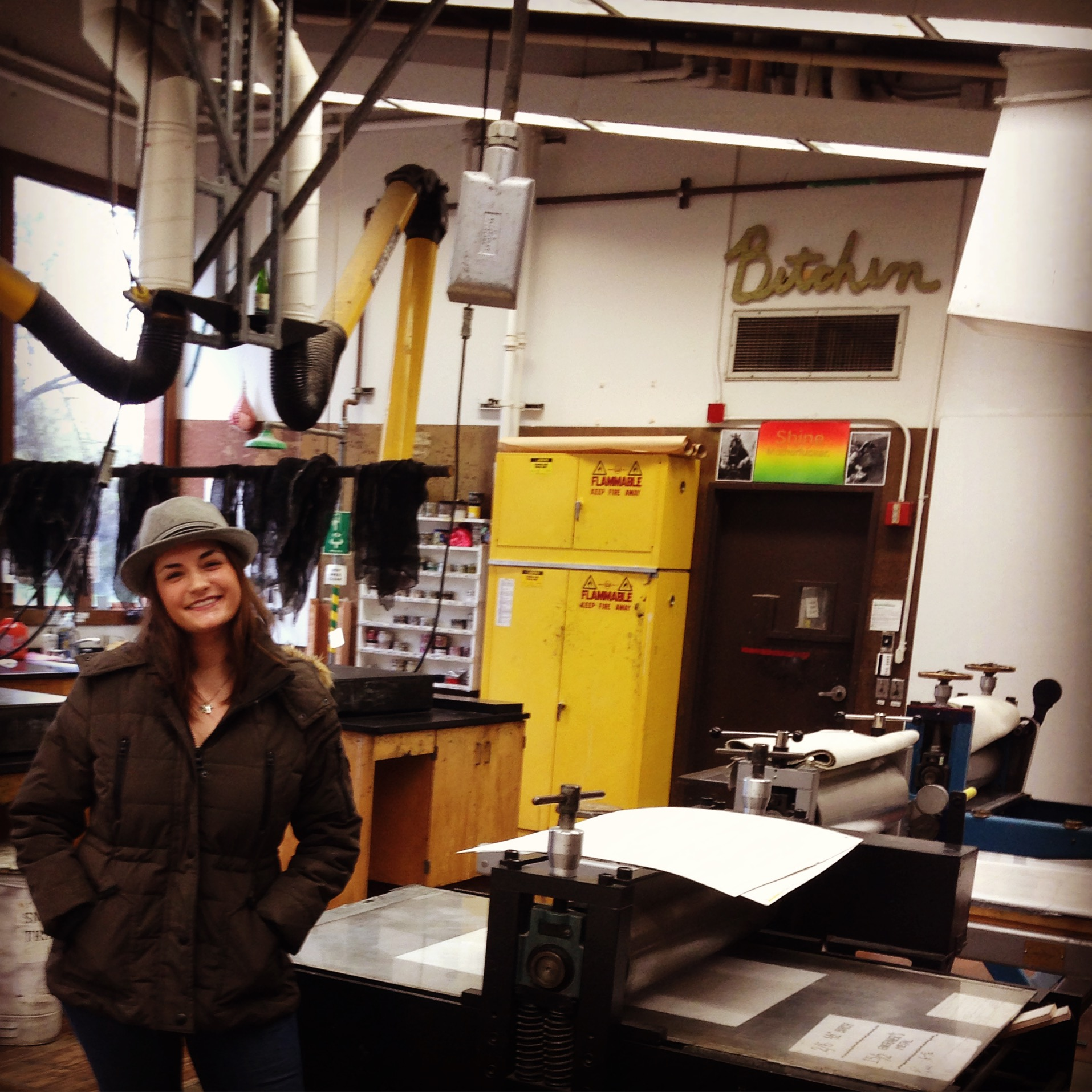 Printmaking Studio at SSU