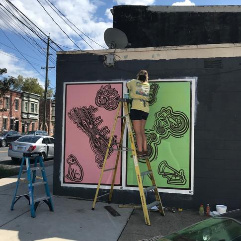Emerald Street Murals in Camden, NJ