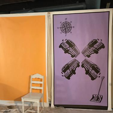 In Progress Murals in Studio