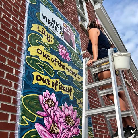Nick Virgilio Writers House Mural