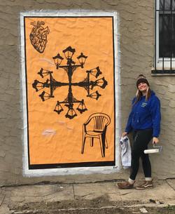Orange Lantern Card Mural