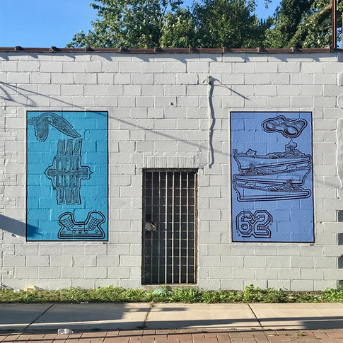 Maritime Murals on Ferry Ave.