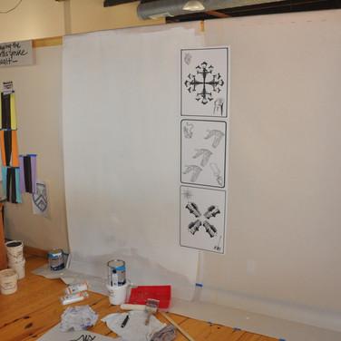 First 3 Mural Drawings