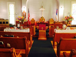 Inside our church building