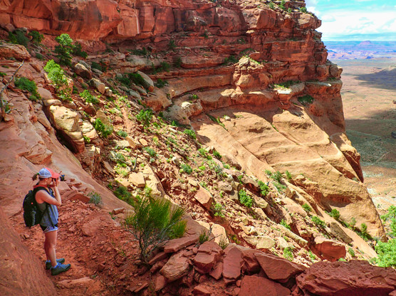 Hiking into the Canyon