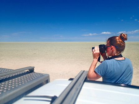 Scanning the Etosha Pan