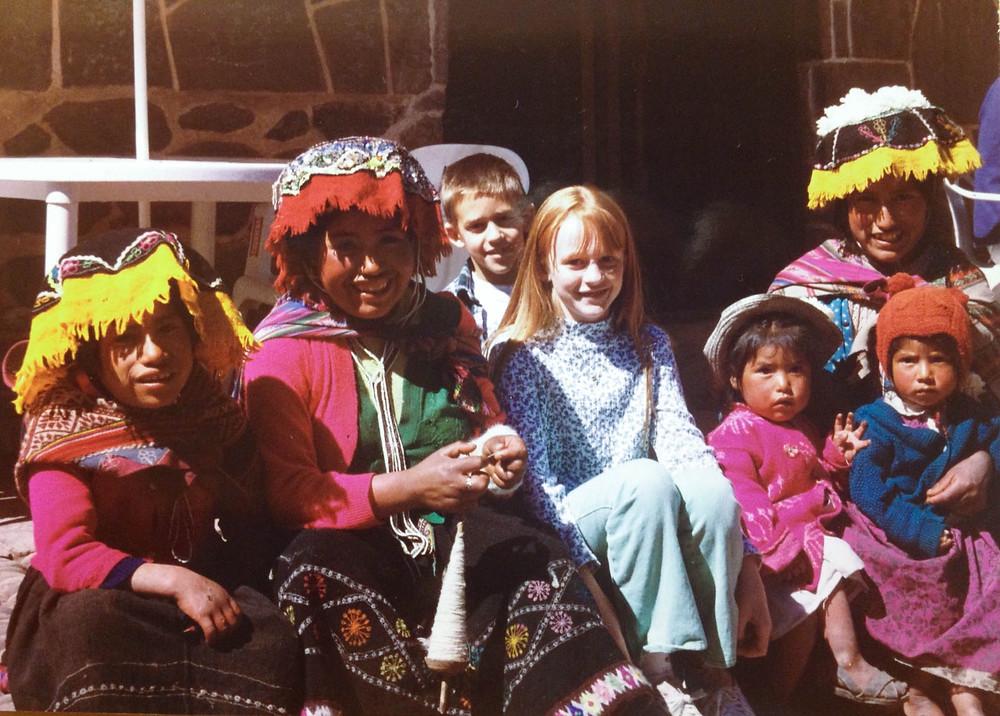Meeting the locals in Cusco, Peru © Haley Pope