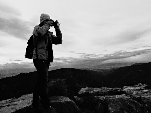 Photographer in Black and White