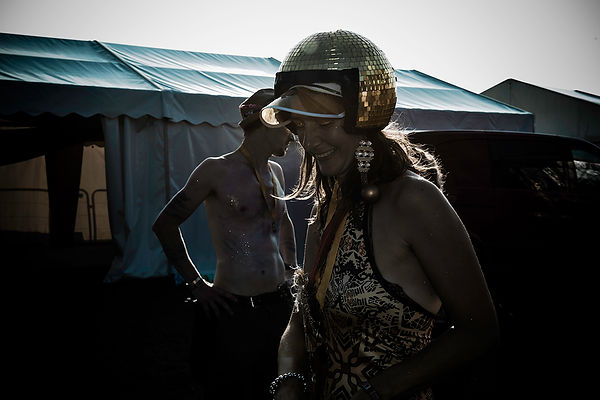 Kings of Ping backstage, Shambala Festival by Wesley Storey photographer