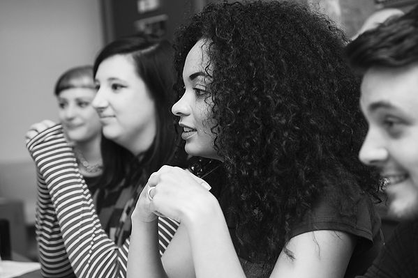 Young creatives in a meeting, Toxteth TV. Photo by Wesley Storey