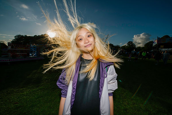 Portrait of girl in Sefton Park, Liverpool by Dance and drama workshop by 20 Stories high Liverpool by Wesley Storey photographer