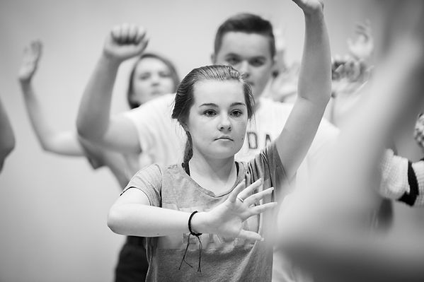 Dance and drama workshop by 20 Stories high Liverpool by Wesley Storey photographer