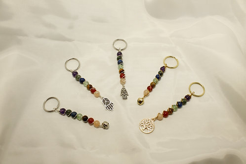 Seven Chakra Keychain