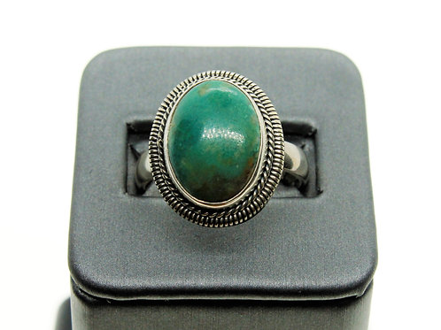 Sterling Silver Oval Turquoise Ring