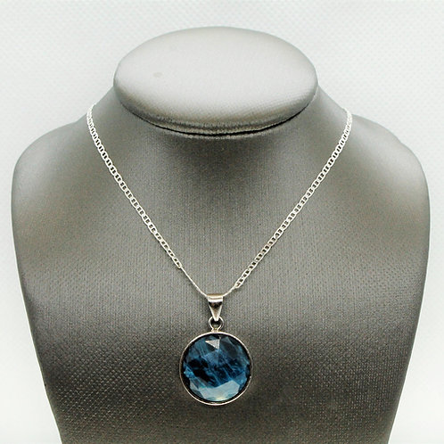 Sterling Silver Apatite Pendant (round)