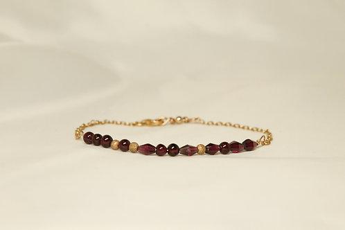 Garnet Morse Code Bracelet: Sexy