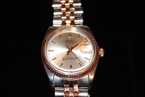 Rare Vintage 1963 Rolex Datejust Two-Tone Rosegold
