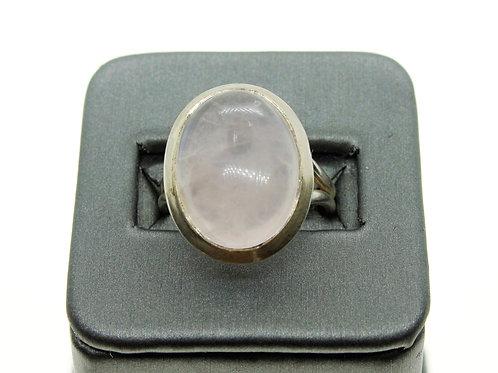 Sterling Silver Rose Quartz Ring (Oval)