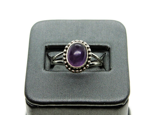 Sterling Silver Amethyst Ring (oval)