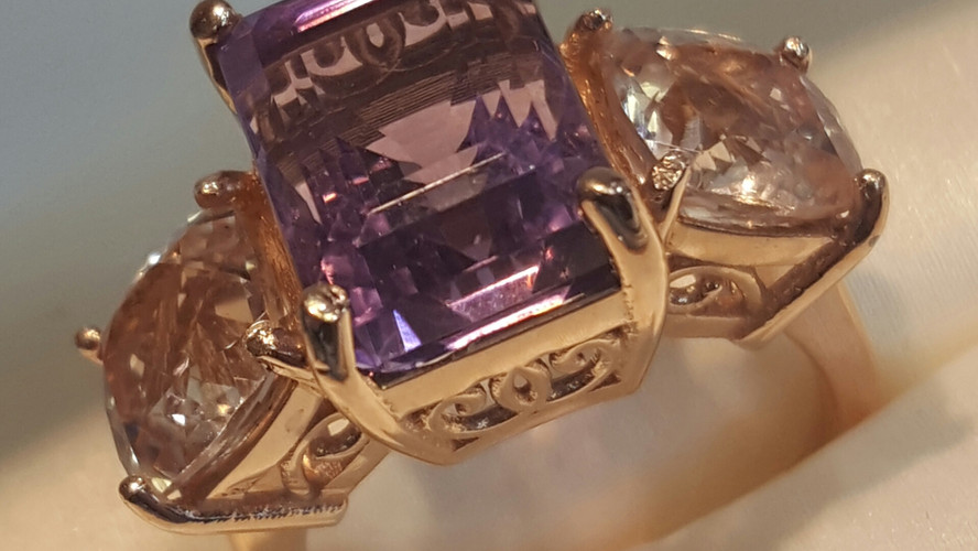 Antique Style Amethyst Ring