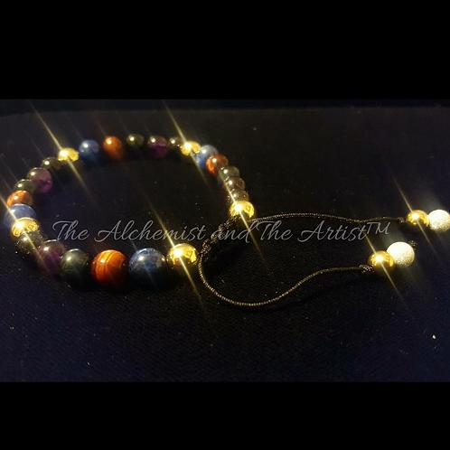 Multi-Gemstone Healing Bracelet with 14k gold
