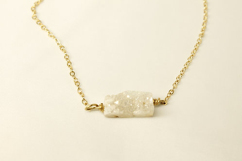 Druzy Pendant in 925 Silver or 14 kt Gold FIll