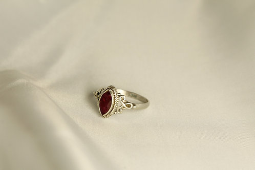 1.02 CT Marquise Ruby Ring In 925 Silver