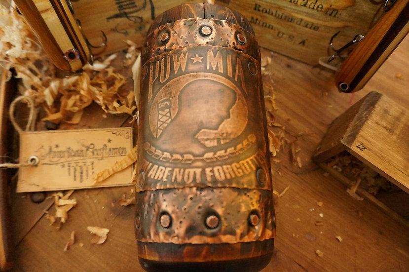 POW MIA Wood Mug