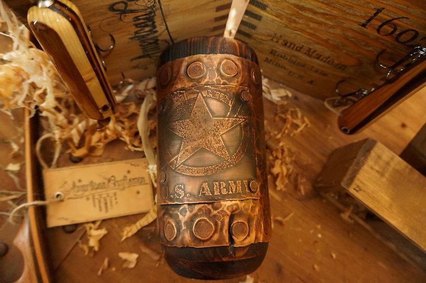 WWII Army Wood Mug