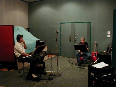In studio with Jerry Cortez, London