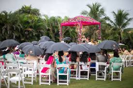 Even if you choose to have a summer wedding, your still not guaranteed good weather as one of our July couples recently found out.