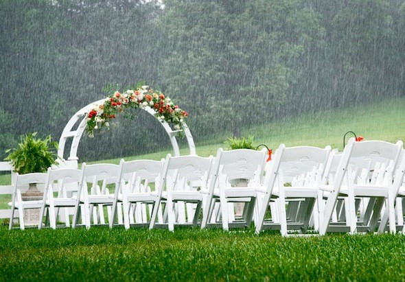 Have you given any thought to how you will cope with rain on your wedding day?