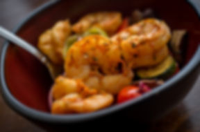 Caribbean grilled jumbo jerk shrimp with