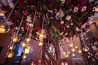 wedding decorations with flowers and can