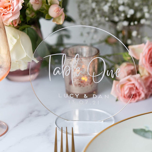 Wedding Table Numbers for Hire