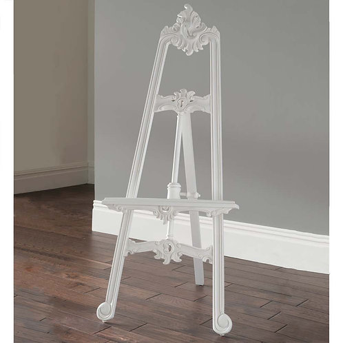 White Ornate Easel fo Hire