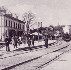 Photo d'époque de l'ancienne gare de Sommières