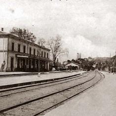 Photo dépoque de la gare de Sommières depuis les voies