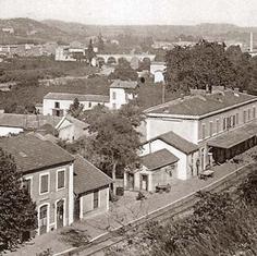 Photo vue de ciel de l'ancienne gare de Sommières