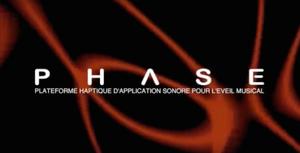Logo du projet Phase - Plateforme haptique d'application sonore pour l'éveil musical.
