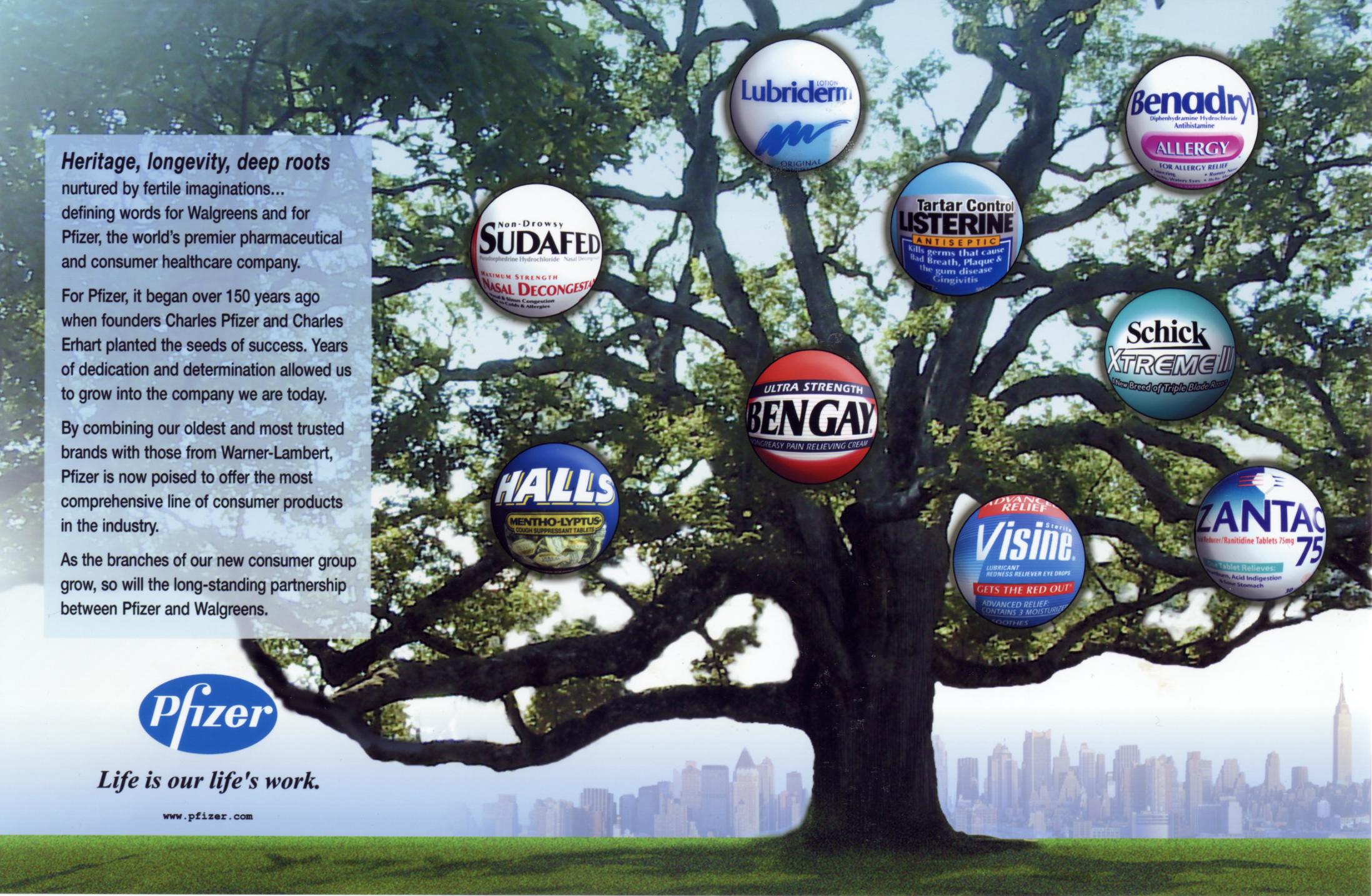 pfizer tree ad