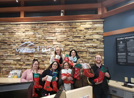 Westerra Federal Credit Union Westminster Colorado Stuffing Stockings To Support Veterans!!