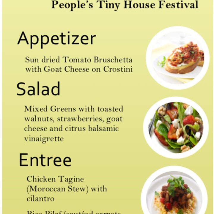 Fundraising Dinner with Experience Tiny Homes